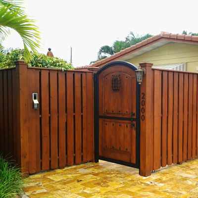 Delray Beach wood fence installation