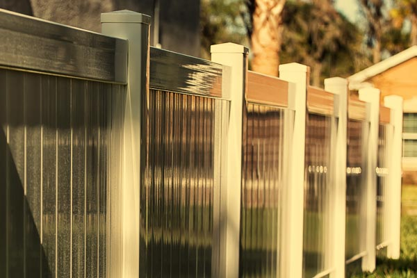 Vinyl fence in Cooper City