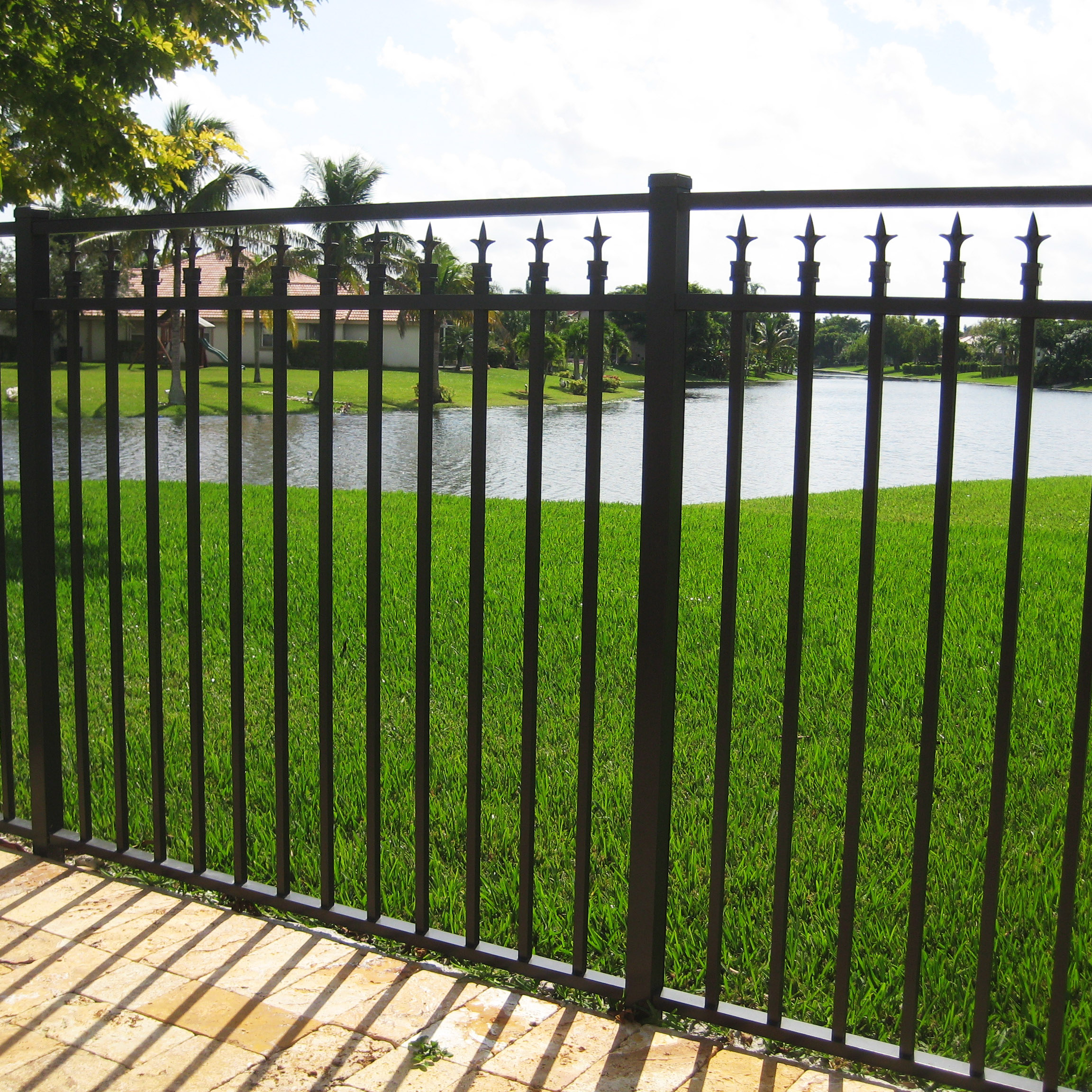 Black aluminum fence fence company in md clarksburg rockville annapolis md aluminum fence black - Vinyl railing reviews ...